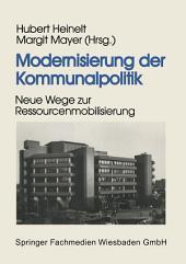 Modernisierung der Kommunalpolitik: Neue Wege zur Ressourcenmobilisierung