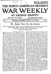 The North American Review's War Weekly: Volume 1, Issues 27-52
