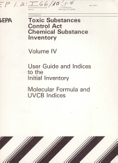 Toxic Substances Control Act (TSCA) Chemical Substance Inventory: Molecular formula and UVCB indices to the initial inventory