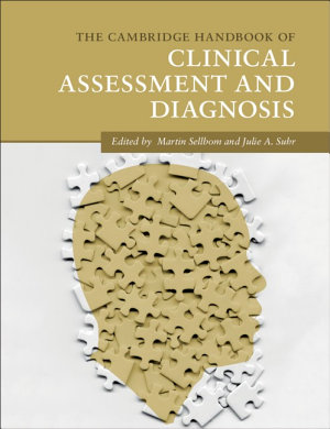 The Cambridge Handbook of Clinical Assessment and Diagnosis