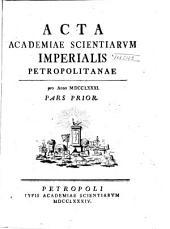 Acta Academiae Scientiarum Imperialis Petropolitanae: Volume9