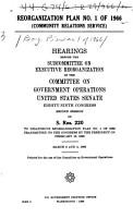 Reorganization Plan No  1 of 1965 PDF