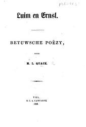 Luim en Ernst. Betuwsche poëzy