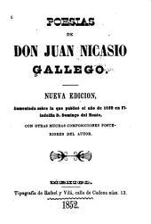 Poesías de Don Juan Nicasio Gallego