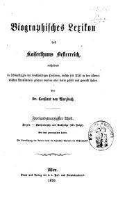 Biographisches Lexicon des Kaiserthums Österreich, enthaltend die Lebensskizzen der denkwürdigen Personen, welche 1750 bis 1850 im Kaiserstaate und in seinen Kronländern ... gelebt haben: Band 43