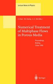 Numerical Treatment of Multiphase Flows in Porous Media: Proceedings of the International Workshop Held at Beijing, China, 2–6 August 1999