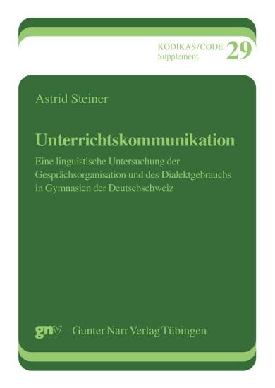 Unterrichtskommunikation PDF