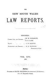The New South Wales Law Reports, 1880-1900: Volume 16