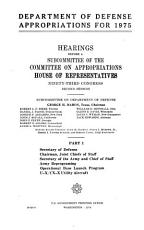 Department of Defense Appropriations for 1975 PDF