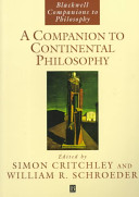 A Companion to Continental Philosophy Book