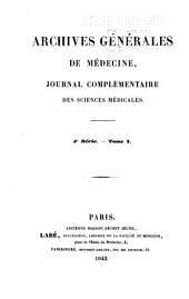 Archives générales de médecine: Volume1;Volume4