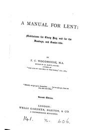 A manual for Lent