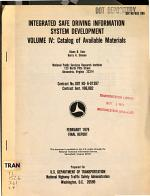 Integrated Safe Driving Information System Development: Catalog of available materials