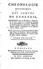 Chronologie historique des comtes de Genevois