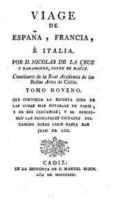 Viage de España, Francia, é Italia: Volumen 9