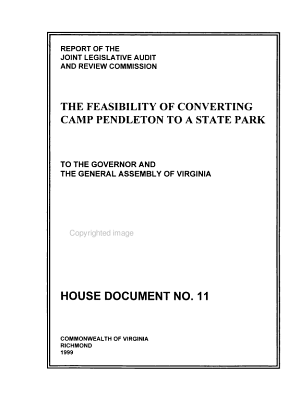 Report of the Joint Legislative Audit and Review Commission  on  the Feasibility of Converting Camp Pendleton to a State Park to the Governor and the General Assembly of Virginia