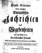 Staats-Relation der neuesten europäischen Nachrichten und Begebenheiten: 1758,[1]