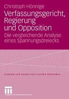 Verfassungsgericht  Regierung und Opposition PDF