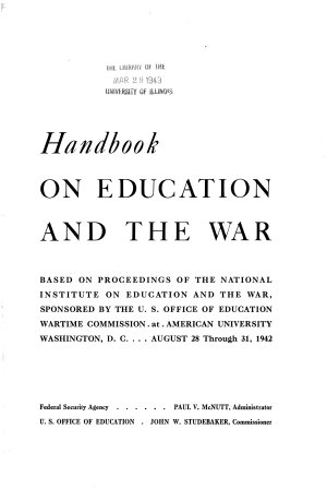 Handbook on Education and the War PDF