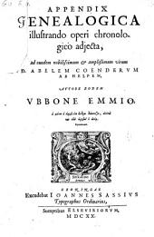 Appendix genealogica illustrando operi chronologico adjecta