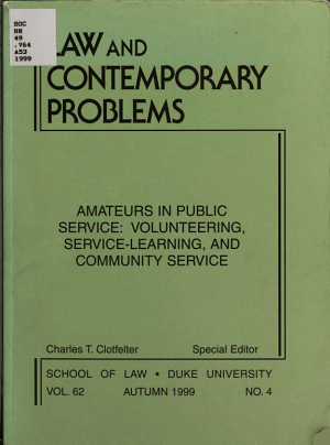 Amateurs in Public Service PDF