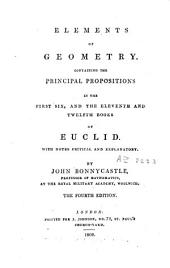 Elements of Geometry of Euclid