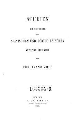 Studien zur Geschichte der spanischen und portugiesischen Nationalliteratur PDF