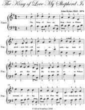 King of Love My Shepherd Is - Easy Piano Sheet Music