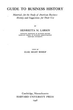 Harvard Studies in Business History PDF