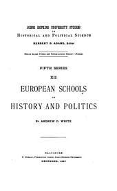 European Schools of History and Politics