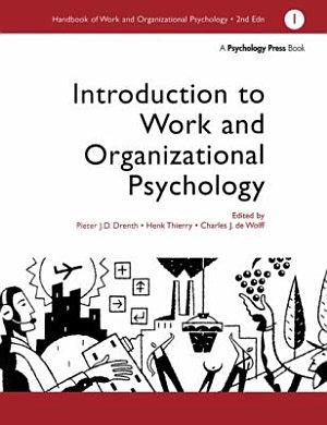 Handbook of Work and Organizational Psychology  Introduction to work and organizational psychology PDF