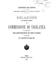 Relazione del direttore generale alla Commissione di vigilanza sul rendiconto dell' amministrazione del debito pubblico ...