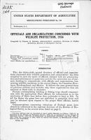 Officials and Organizations Concerned with Wildlife Protection  1936 PDF