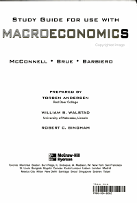 Study Guide for Use with Macroeconomics  Ninth Canadian Edition