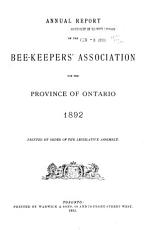 Annual Report of the Bee Keepers  Association of the Province of Ontario PDF