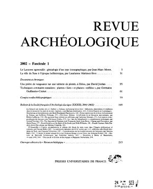Revue arch  ologique PDF