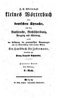 J  C  Adelung s kleines W  rterbuch der deutschen Sprache  f  r die Aussprache  Rechtschreibung  Beugung und Ableitung PDF