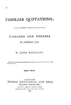 Familiar Quotations PDF
