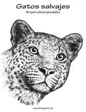 Gatos salvajes libro para colorear para adultos 1