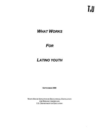 What Works for Latino Youth PDF