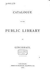 Catalogue of the Public Library of Cincinnati