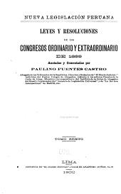 Nueva legislación peruana: Volumen 6;Volumen 8