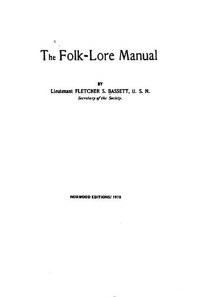 The Folk lore Manual PDF