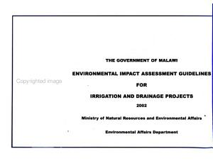 Environmental Impact Assessment Guidelines for  name of Projects   Irrigation and drainage projects PDF