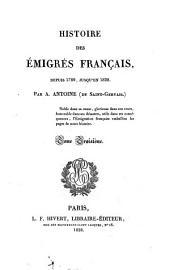 Histoire Des Emigres Francais: Volume3