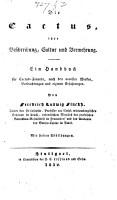 Die Cactus  ihre Beschreibung  Cultur und Vermehrung PDF