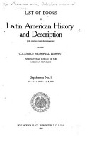 List of Latin American History and Description in the Columbus Memorial Library PDF