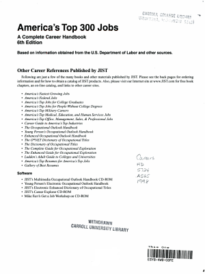 America s Top 300 Jobs PDF
