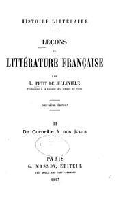 Leçons de littérature française: Volume2