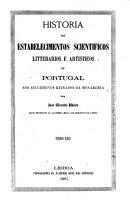 Historia dos estabelecimentos scientificos  1854 1861 PDF